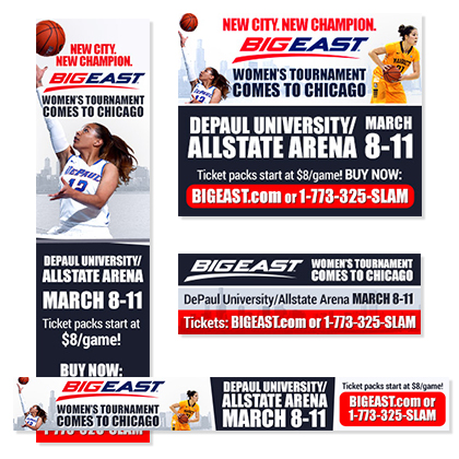 BIG EAST - 2014 Women's Tournament Ticket Campaign
