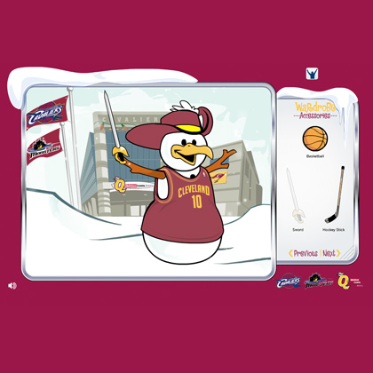 Cleveland Cavaliers Holiday Card Animation