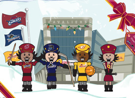 Cleveland Cavaliers - Nutcracker Holiday Card