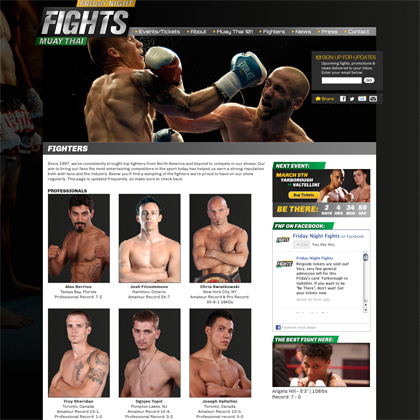 Friday Night Fights Fighter Page