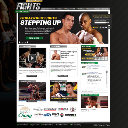 Friday Night Fights Homepage