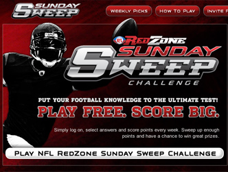 NFL Redzone Sunday Sweep Game
