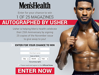 Men's Health - Usher Promotion