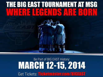 2014 BIG EAST Tournament Tickets Campaign