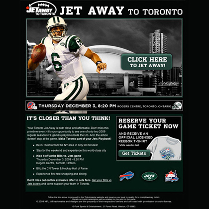 Rogers Jet Away Promotional Email