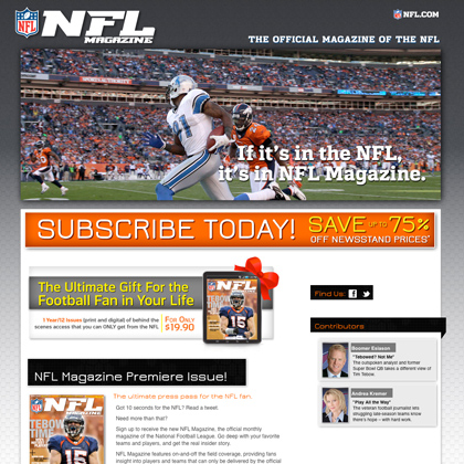 The NFL Magazine Website - Launch