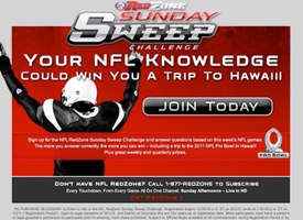 NFL RedZone Sunday Sweep Eblasts