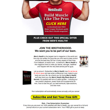 Men's Health - Major League Muscle Email
