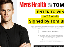 Men's Health - Tom Brady Promotion